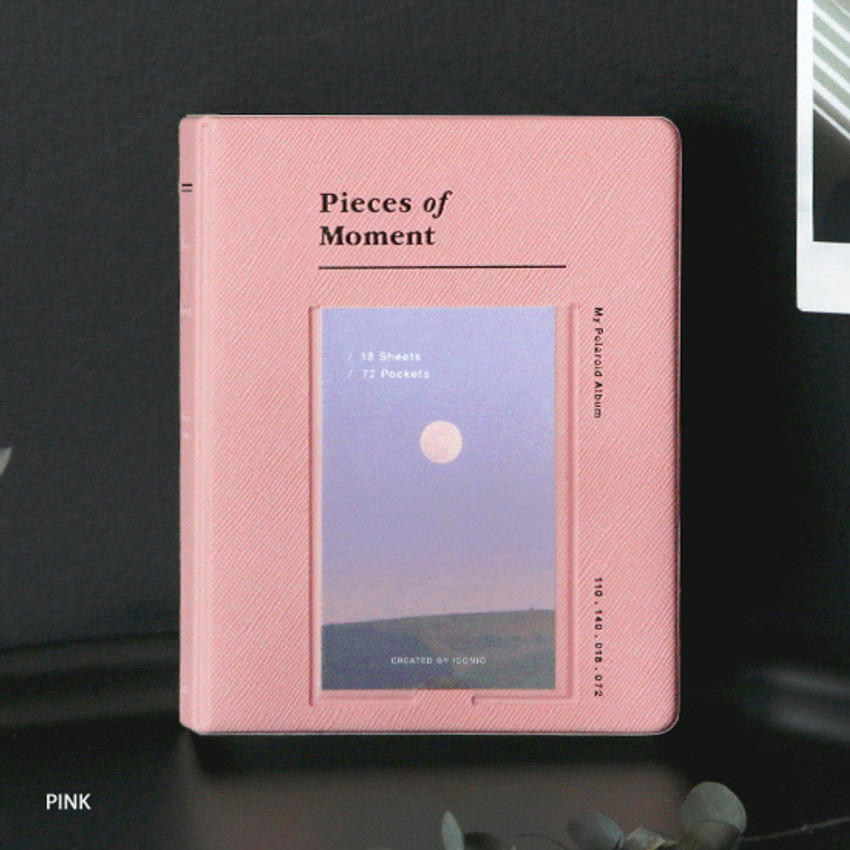 Pink - ICONIC Instax mini polaroid slip in photo album ver4