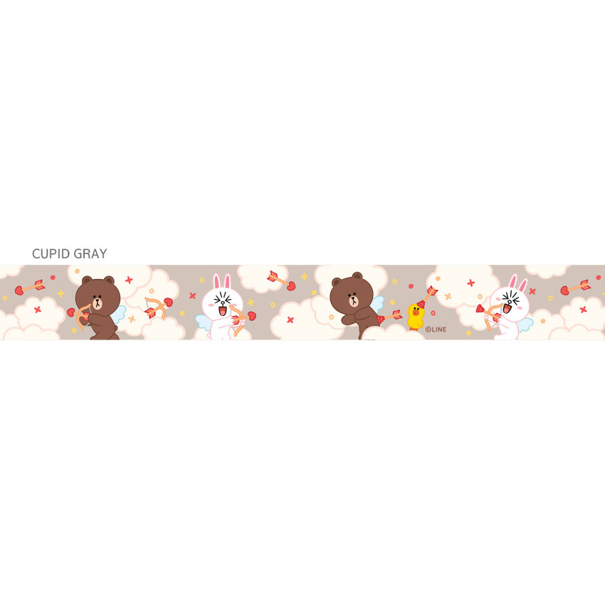Cupid gray - Monopoly Cute line friend cupid and home neck strap