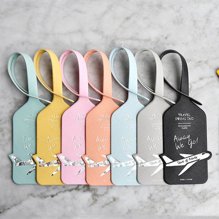 Play Obje Away we go hologram travel swing luggage name tag