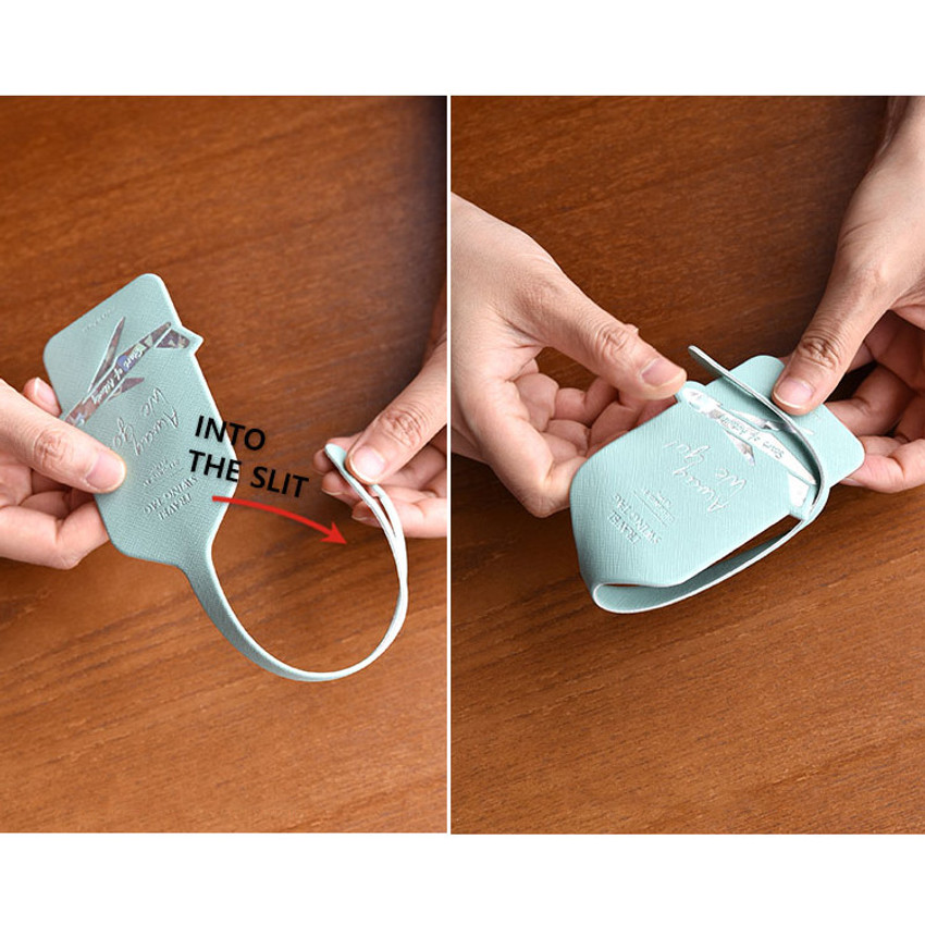 How to use - Play Obje Away we go hologram travel swing luggage name tag