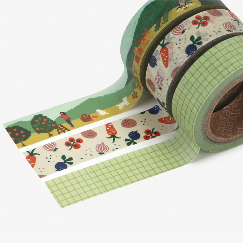 Example of use - Dailylike Little forest paper masking tape set of 3