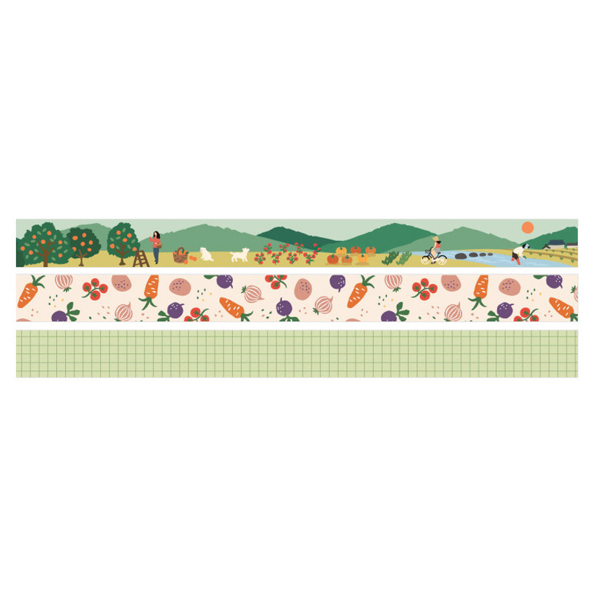 Detail of Dailylike Little forest paper masking tape set of 3