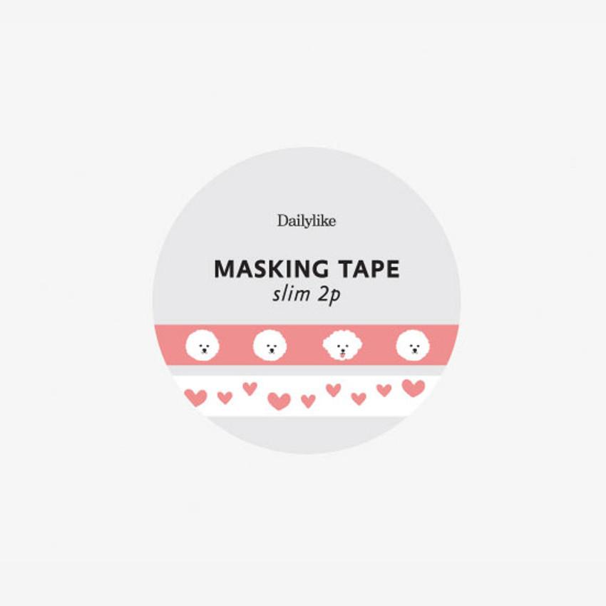 Package - Dailylike Bichon Frise slim masking tape set