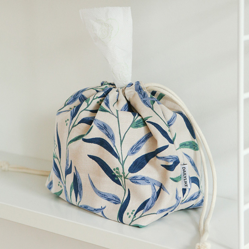 Today/'s Diary String pouch Cotton Pouch