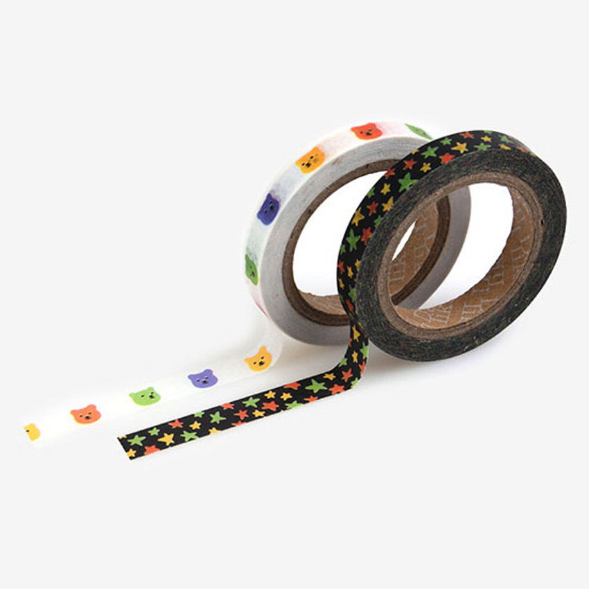 Dailylike Jelly bear slim masking tape set