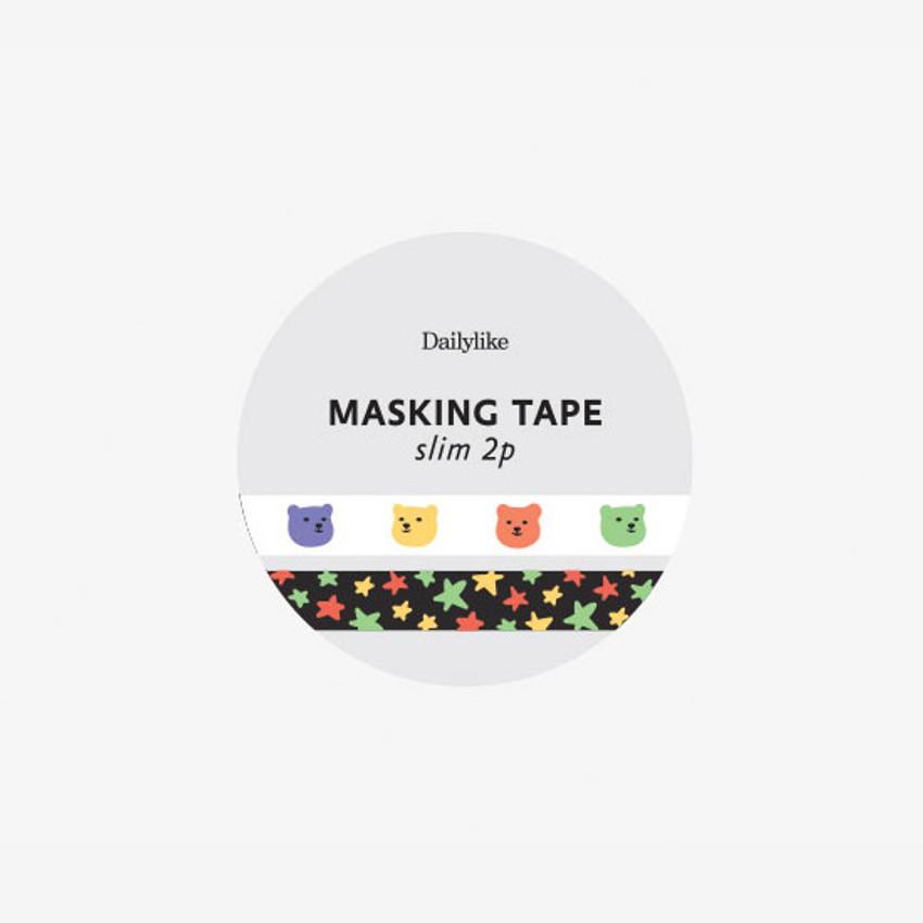 Package of Dailylike Flower slim masking tape set