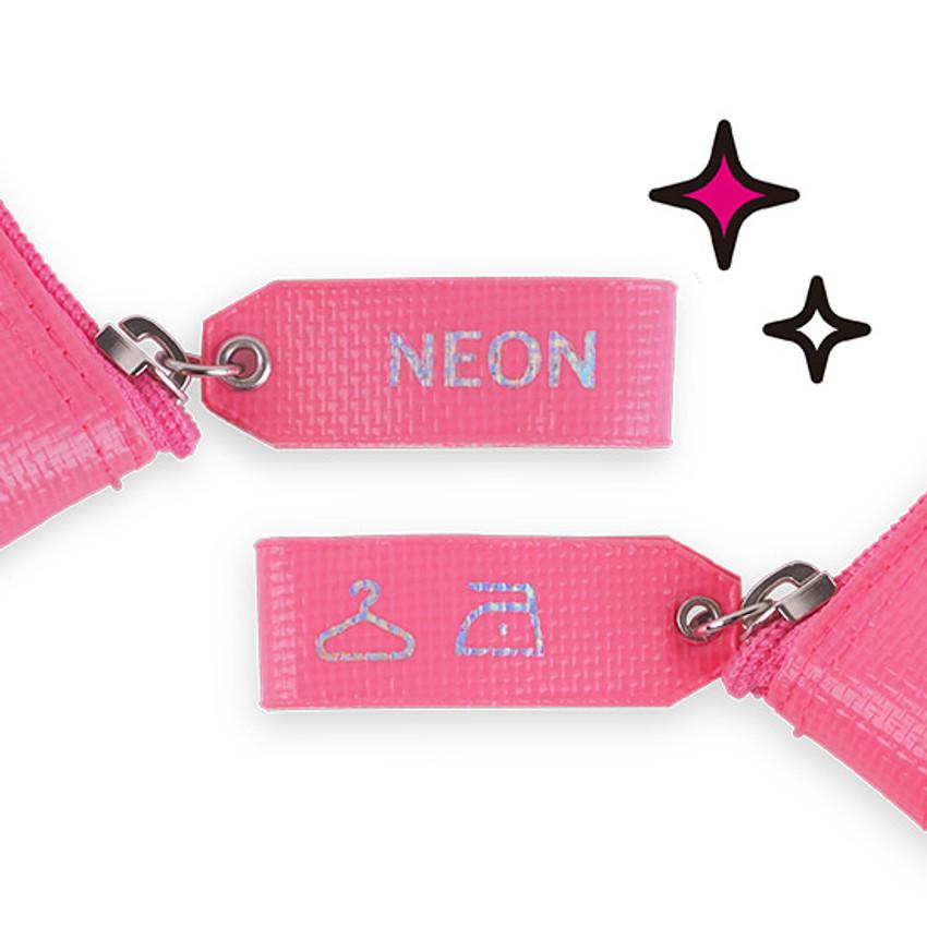 Cute tag - Rihoon Neon laundry translucent zipper pencil case