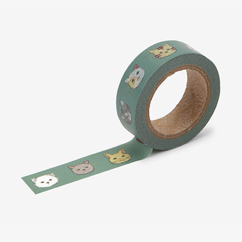 Dailylike Friendly kitty single roll paper masking tape
