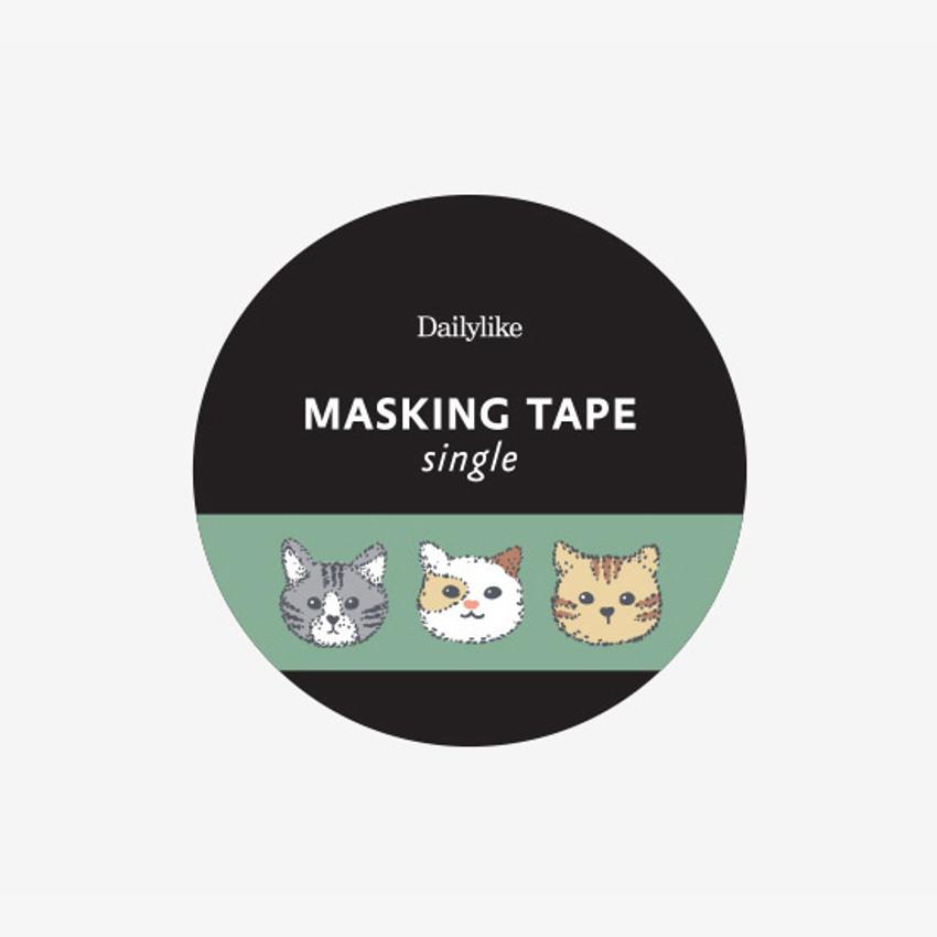 Package of Dailylike Friendly kitty single roll paper masking tape