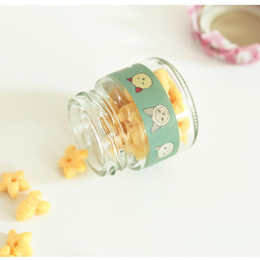 Example of use - Dailylike Friendly kitty single roll paper masking tape