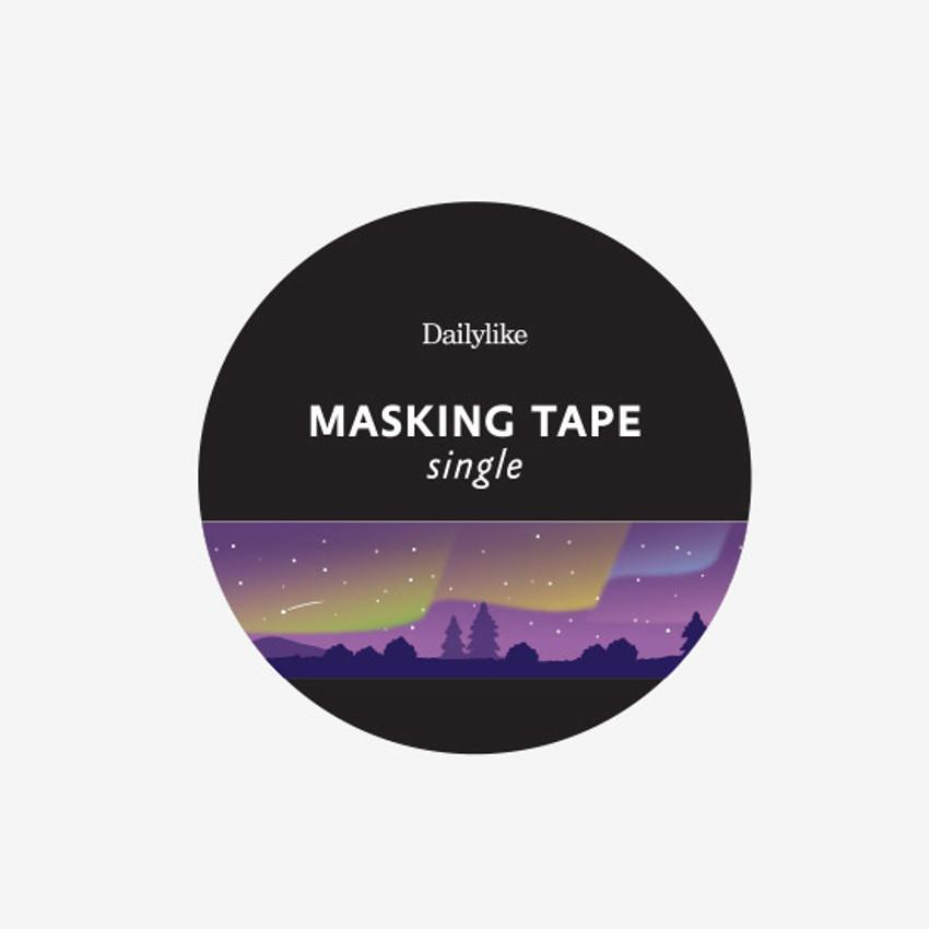 Package of Dailylike Aurora single roll paper masking tape