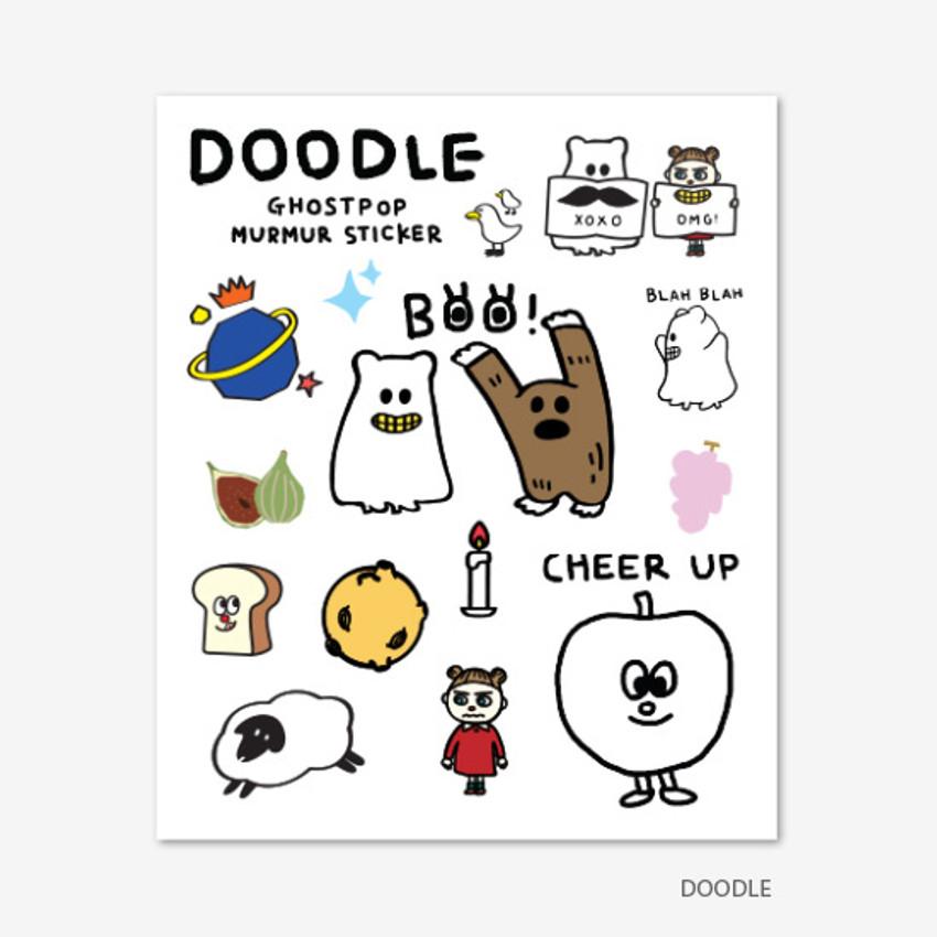 Doodle - Gunmangzeung Ghost pop murmur sticker set