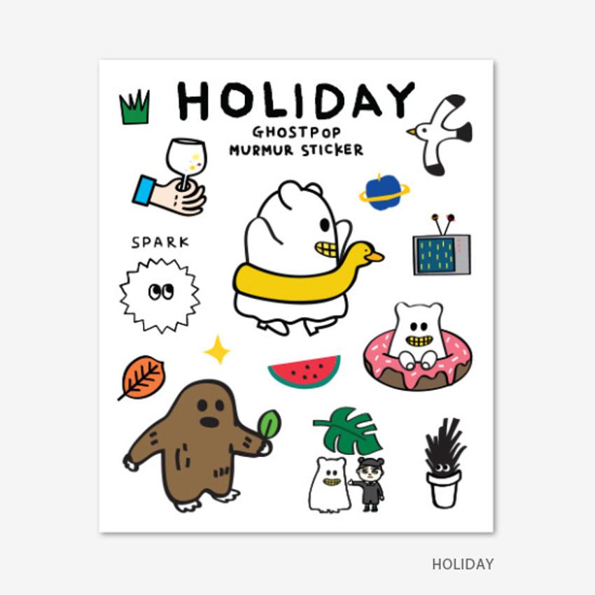 Holiday - Gunmangzeung Ghost pop murmur sticker set