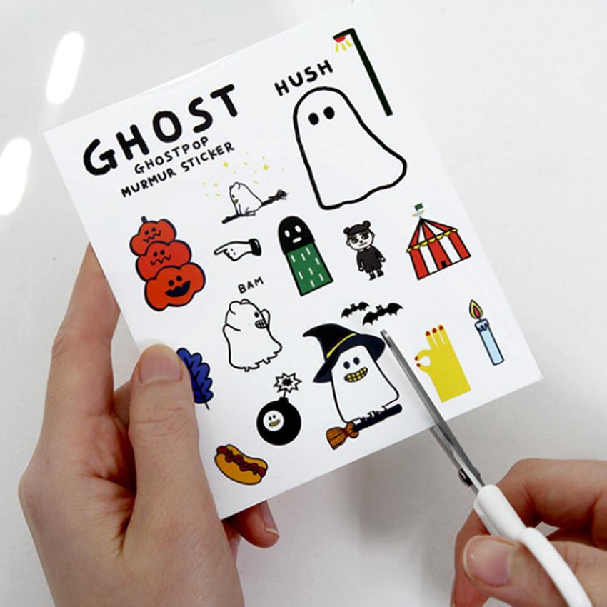Example of use - Gunmangzeung Ghost pop murmur sticker set