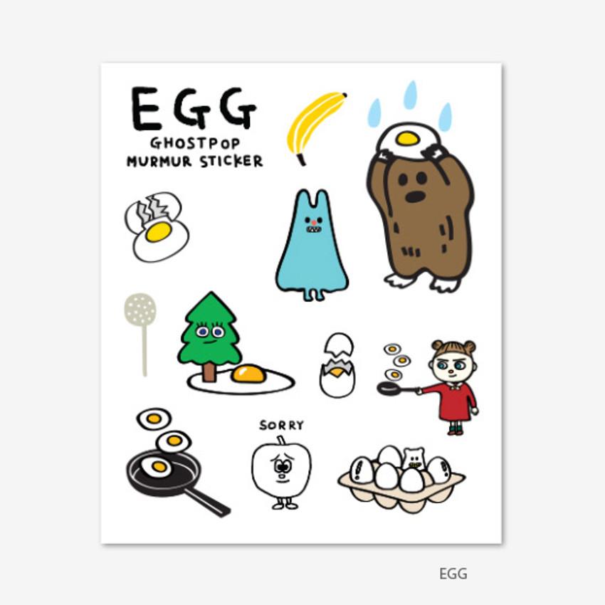Egg - Gunmangzeung Ghost pop murmur sticker set