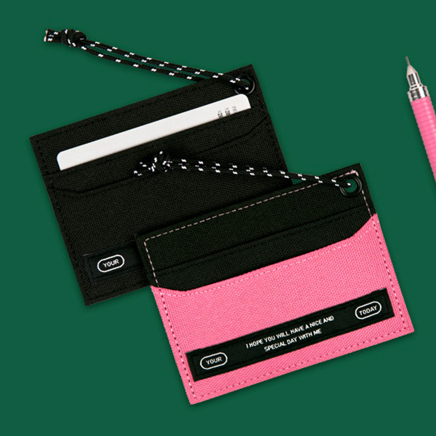 Example of use - BNTP Today flat card pocket case holder