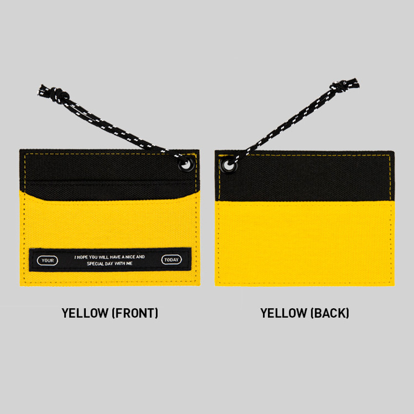 Yellow - BNTP Today flat card pocket case holder