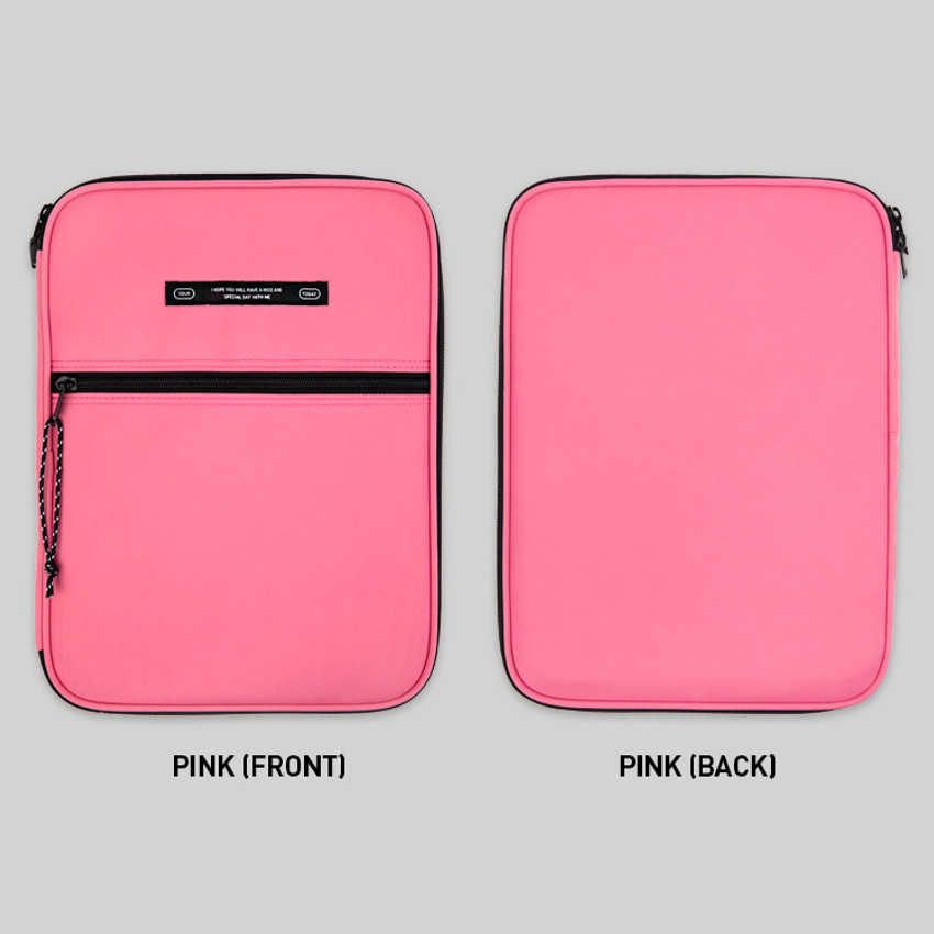 Pink - BNTP Today tablet PC iPad zipper multi pouch