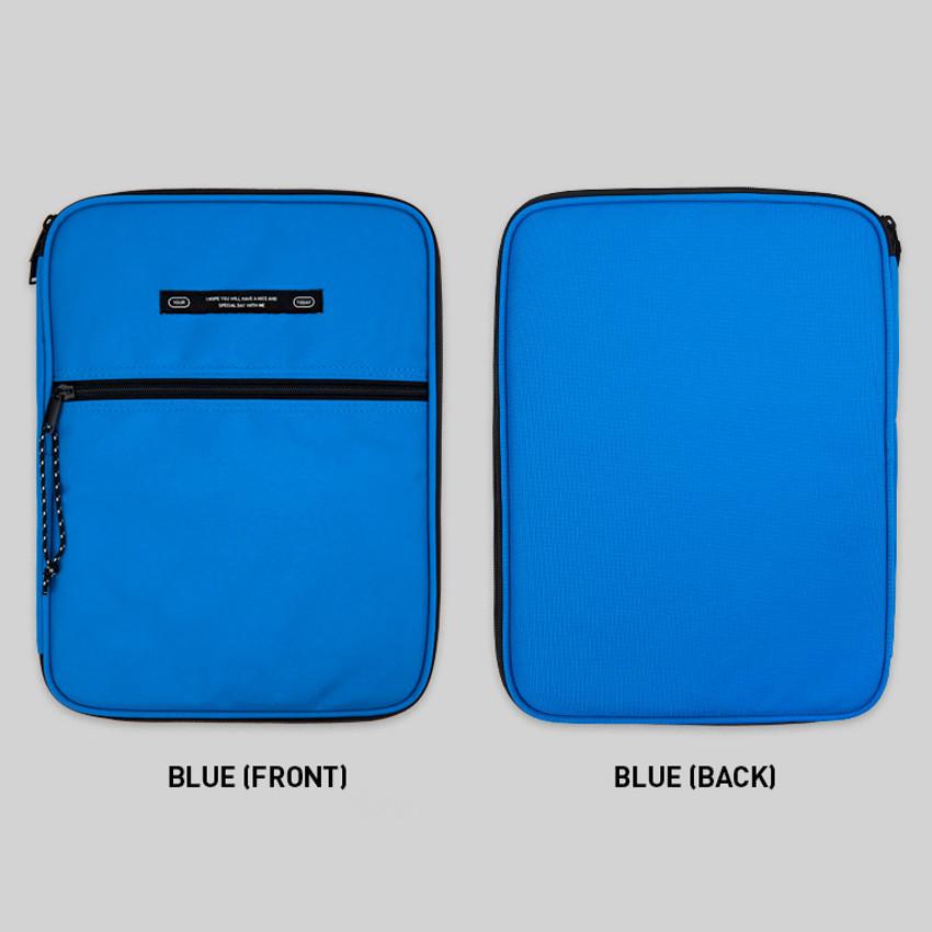 Blue - BNTP Today tablet PC iPad zipper multi pouch