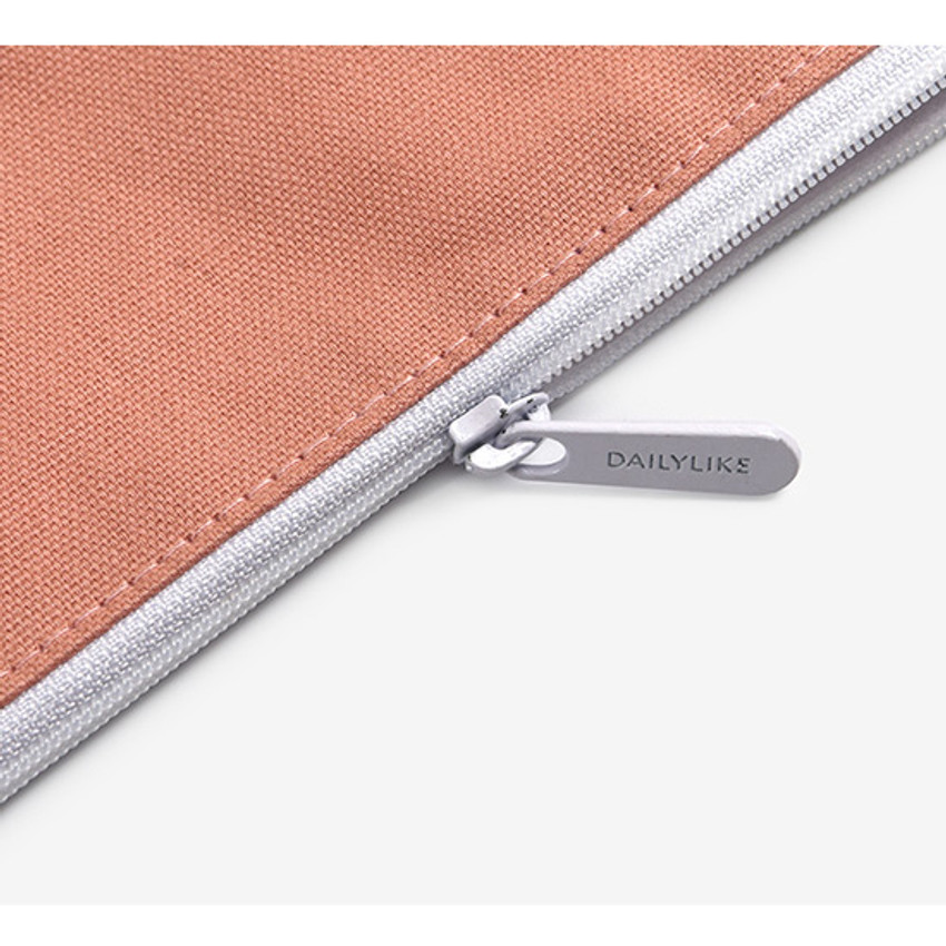 Zipper pouch - Dailylike Embroidery rectangle fabric zipper pouch - Alpaca