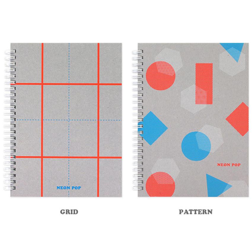 Option - Indigo Neon pop spiral bound dateless weekly planner