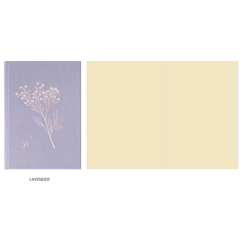 Lavender - Livework Korean poetry small hardcover blank notebook