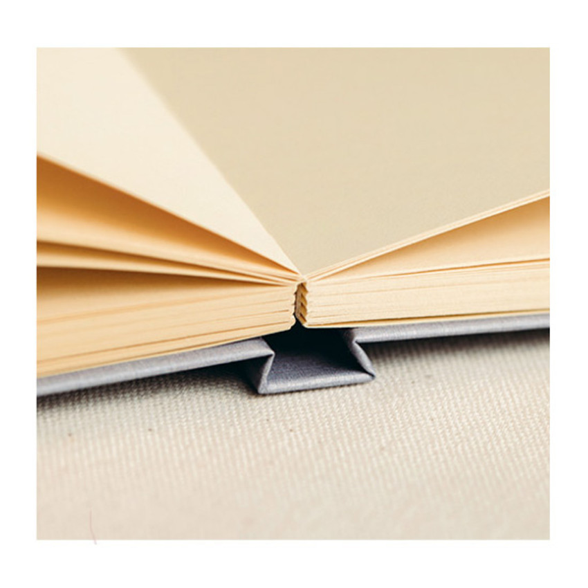 Opens flat - Livework Korean poetry small hardcover blank notebook