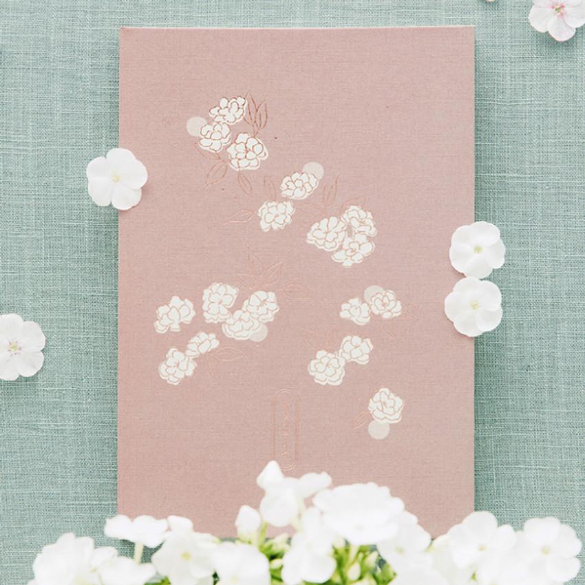 Livework Korean poetry large hardcover lined grid notebook
