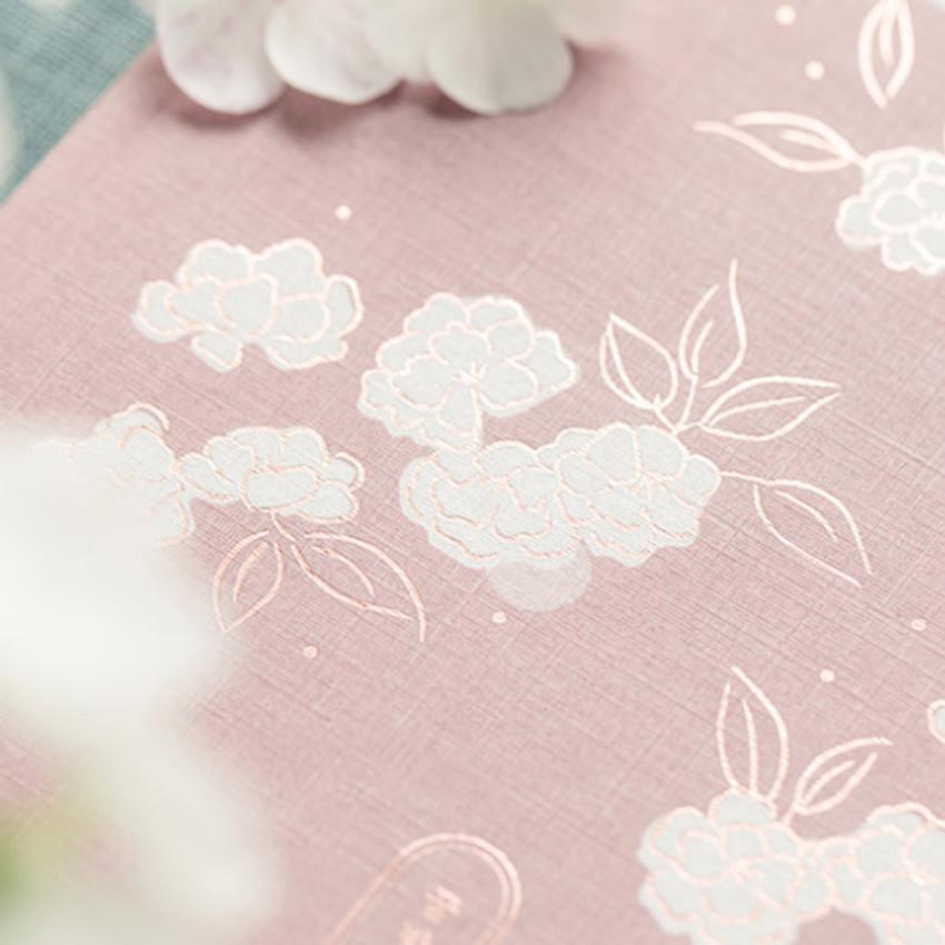 graceful illustration - Livework Korean poetry large hardcover lined grid notebook