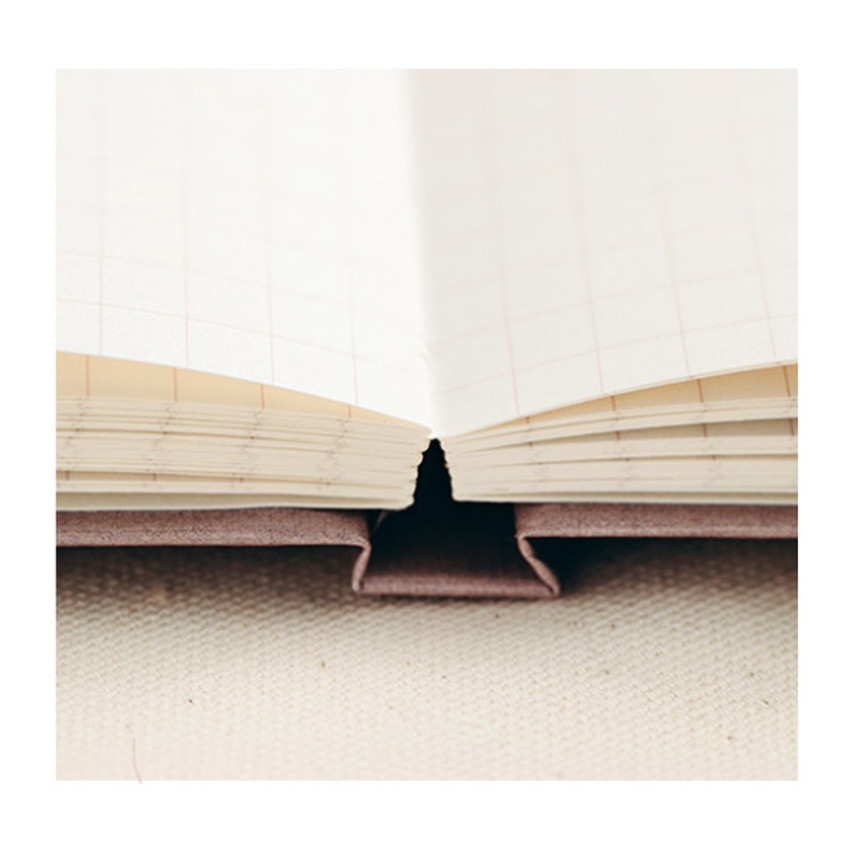 Opens flat - Livework Korean poetry large hardcover lined grid notebook