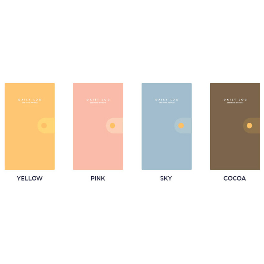 Color - GMZ 2020 The daily log button dated weekly diary planner