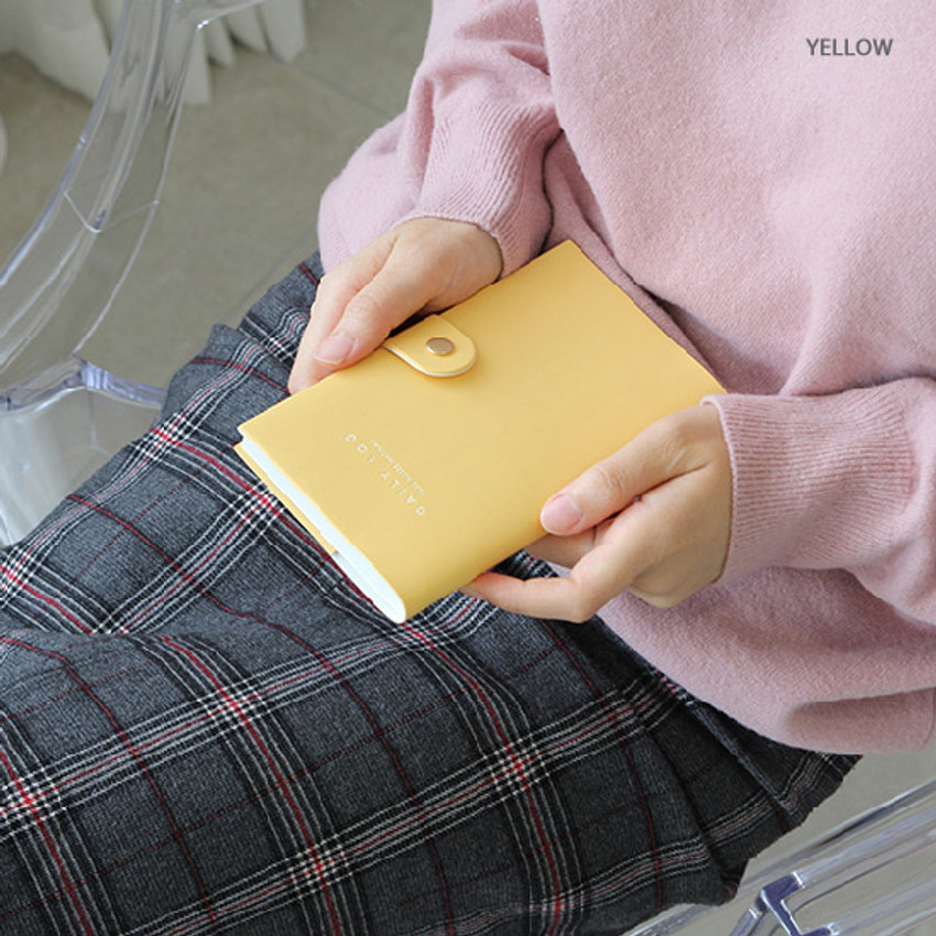 Yellow - GMZ 2020 The daily log button dated weekly diary planner
