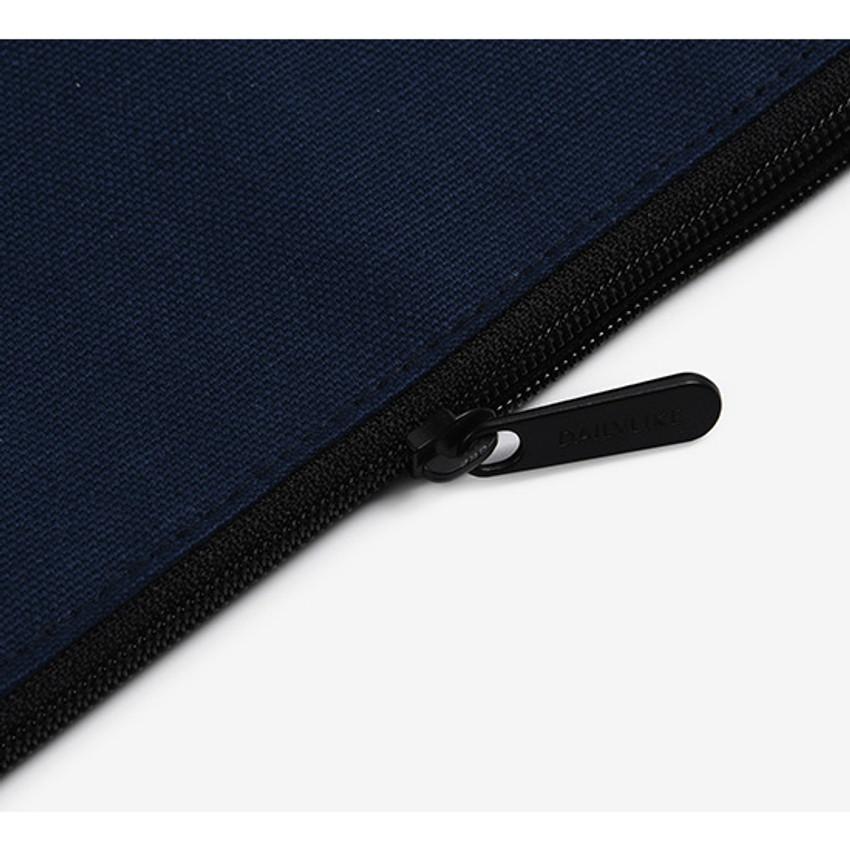 Zipper - Dailylike Embroidery rectangle fabric zipper pouch - Miaow