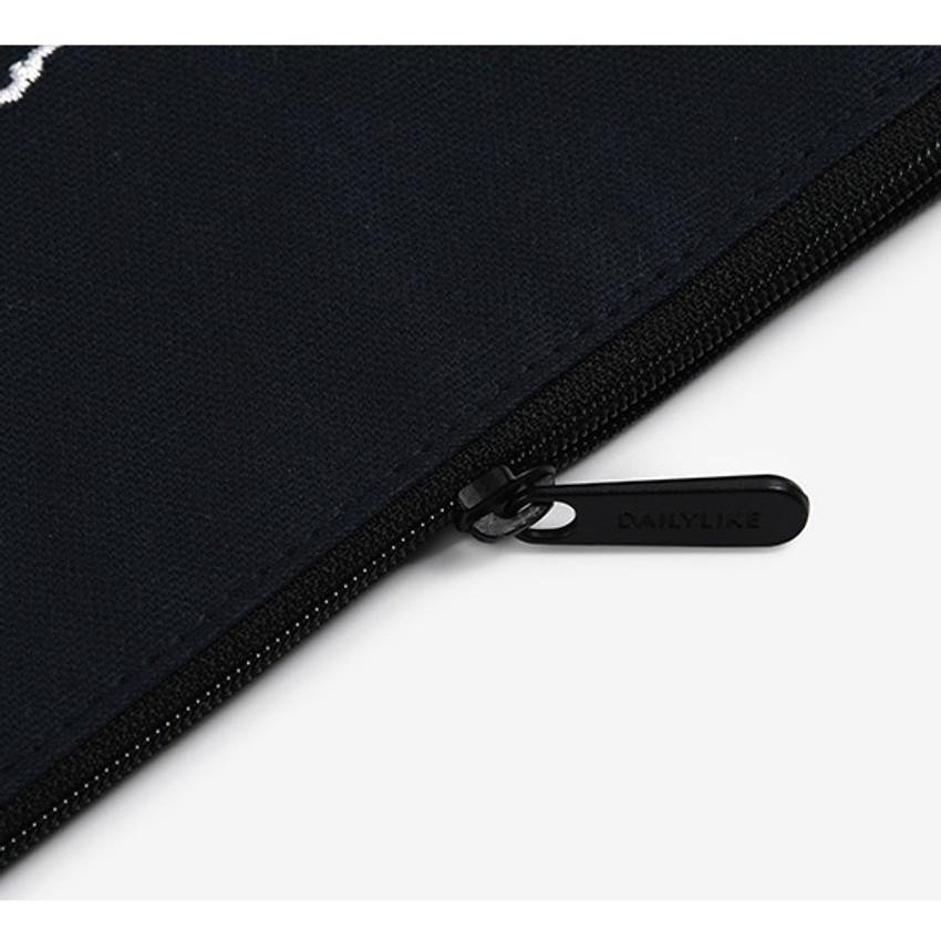 Zipper pouch - Dailylike Embroidery rectangle fabric zipper pouch - Bichon