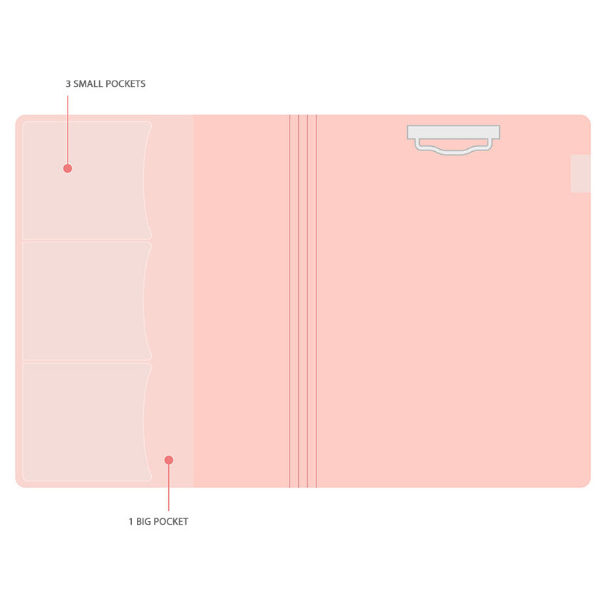 Composition - PLEPLE Memo days A5 size foldover clipboard set