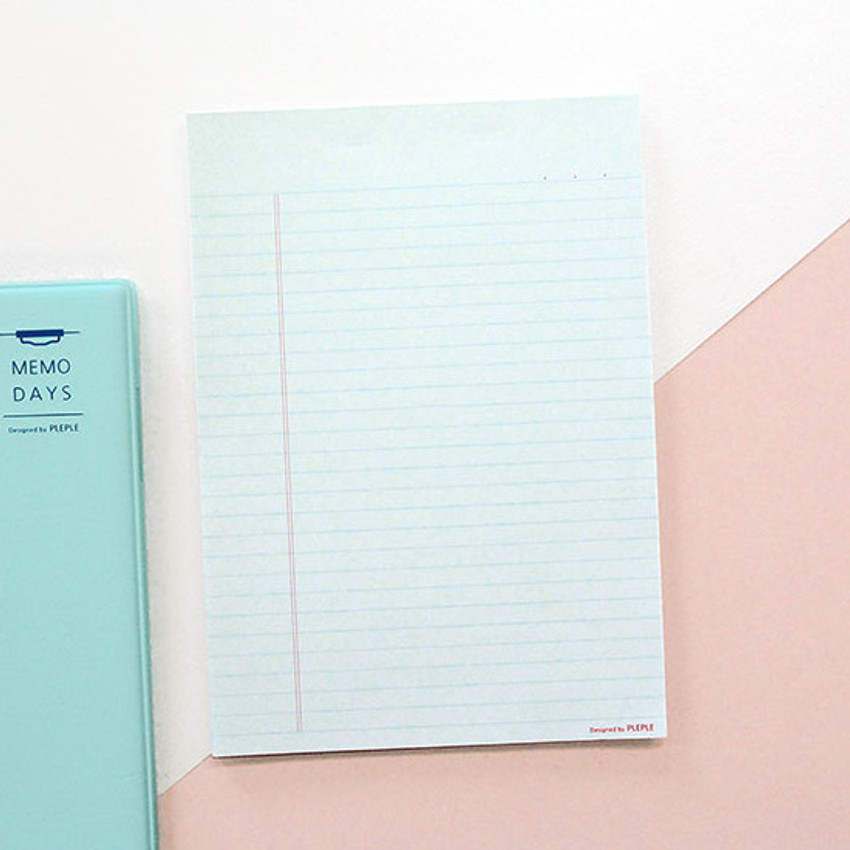 Comes with notepad - PLEPLE Memo days A5 size foldover clipboard set