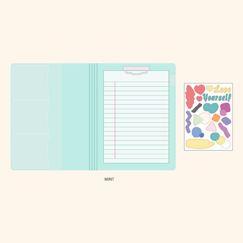 Mint - PLEPLE Memo days A5 size foldover clipboard set