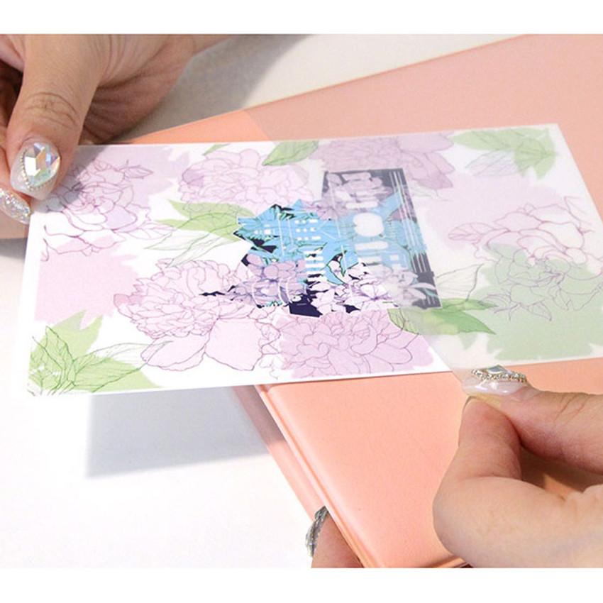 Usage example - PLEPLE Memo days A5 size foldover clipboard set