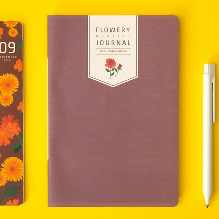 Rose blossom - Ardium 2020 Flowery dated monthly journal planner