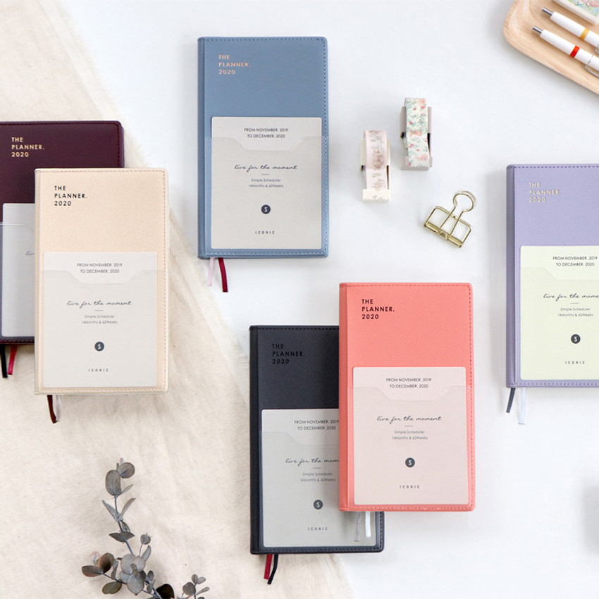 ICONIC 2020 Simple small dated weekly planner scheduler