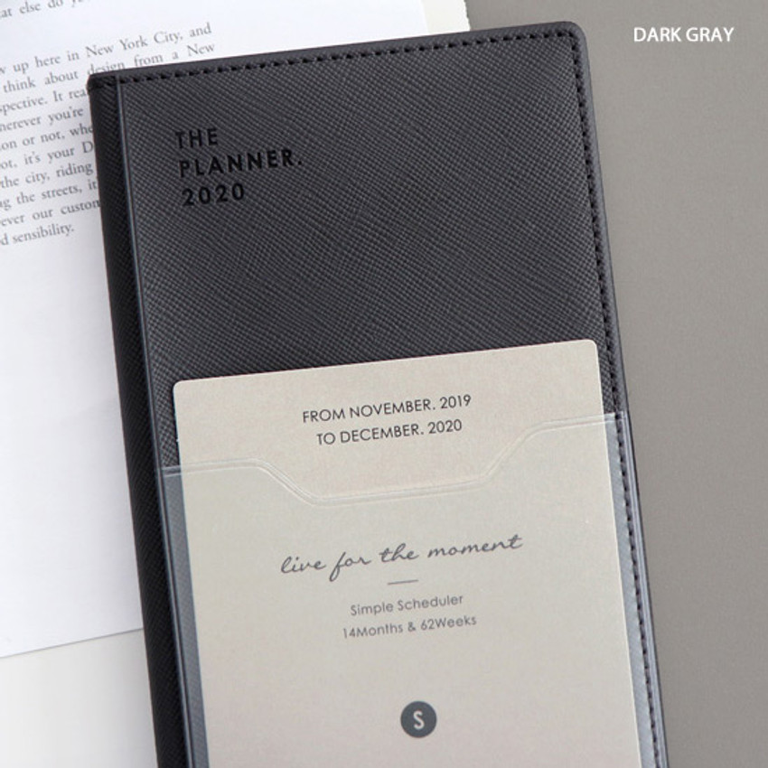 Dark gray - ICONIC 2020 Simple small dated weekly planner scheduler