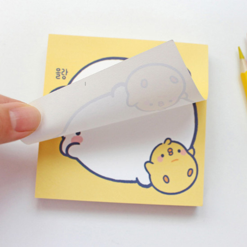 100gsm paper - Bookcodi Blooming day with Molang cute memo notepad