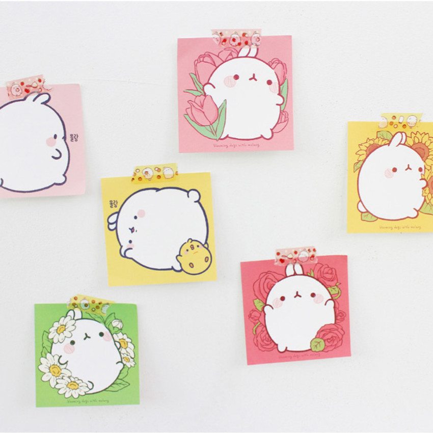 Bookcodi Blooming day with Molang cute memo notepad