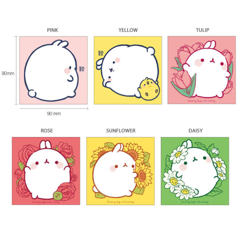 Option - Bookcodi Blooming day with Molang cute memo notepad