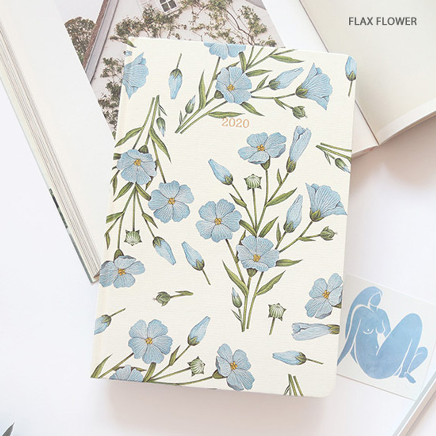 Flax flower - PAPERIAN 2020 Florence hardcover daily agenda planner