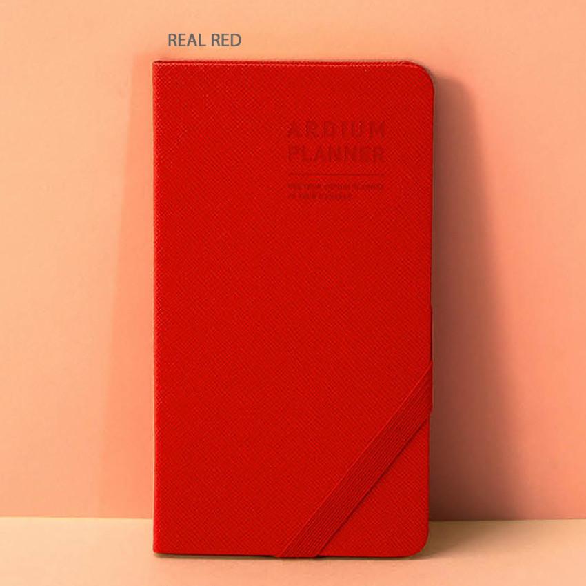 Real red - Ardium 2020 Simple dated handy weekly planner scheduler