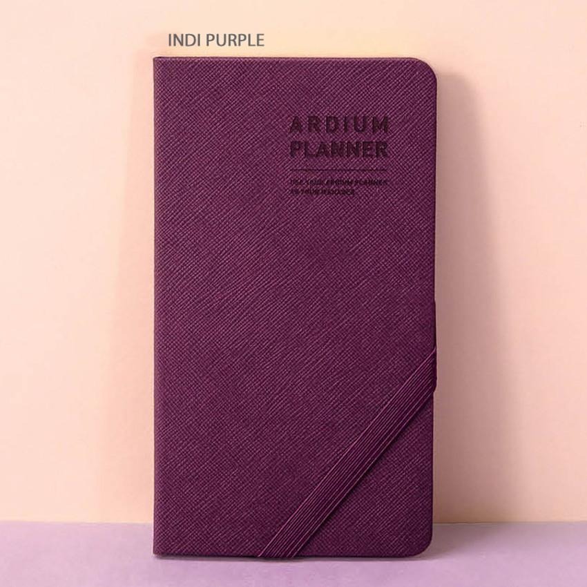 Indi purple - Ardium 2020 Simple dated handy weekly planner scheduler