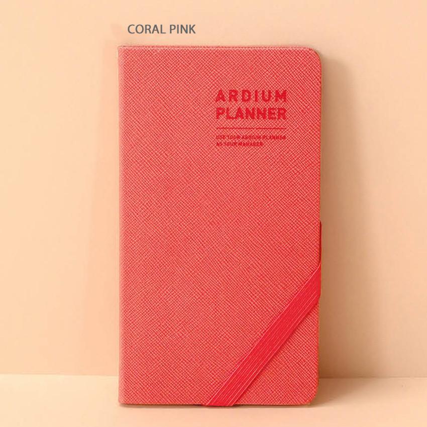 Coral pink - Ardium 2020 Simple dated handy weekly planner scheduler