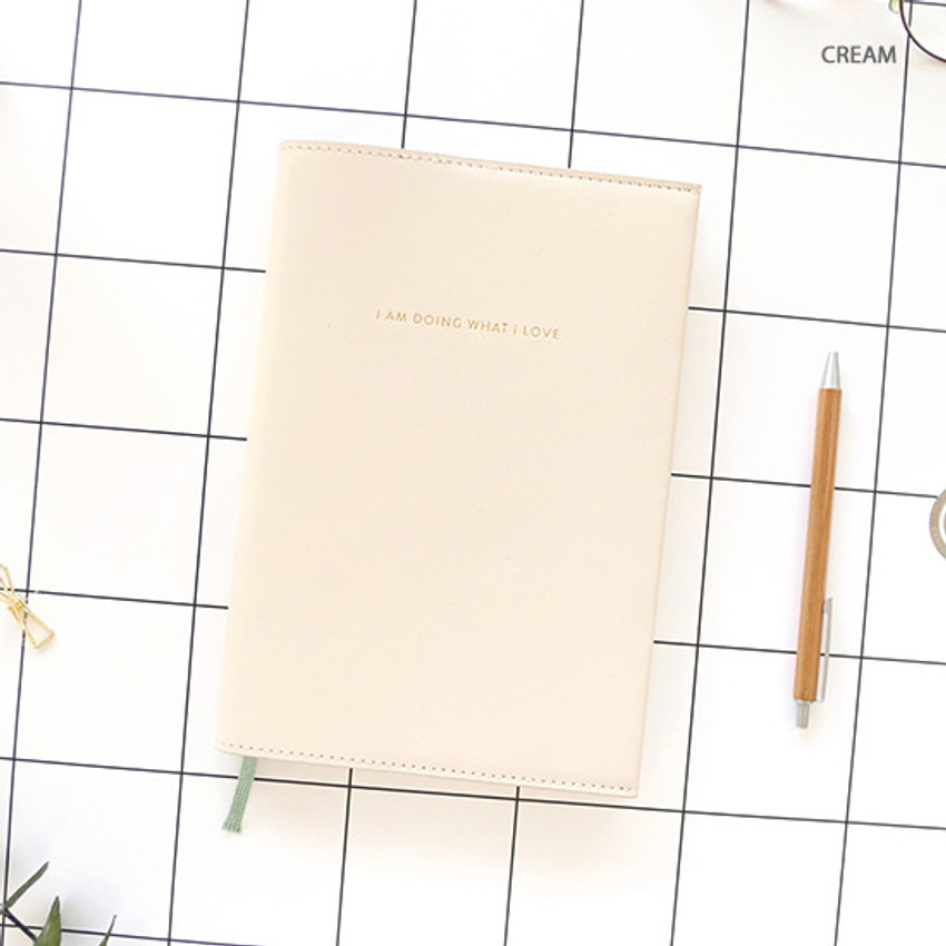 Cream - PAPERIAN 2020 I am doing what i love dated weekly planner