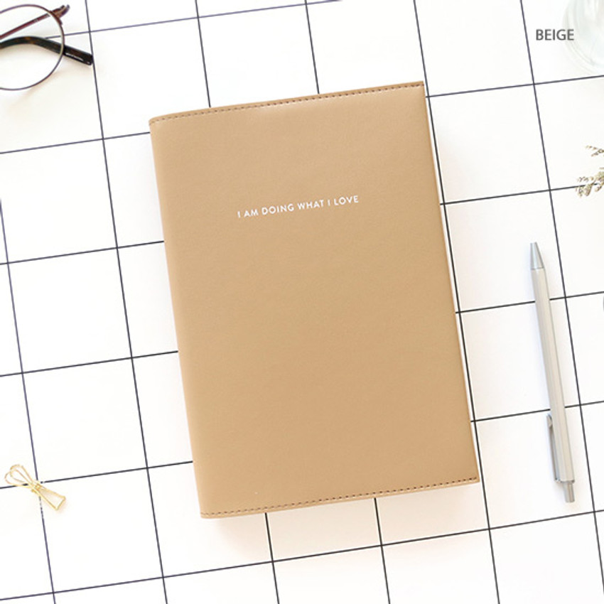 Beige - PAPERIAN 2020 I am doing what i love dated weekly planner